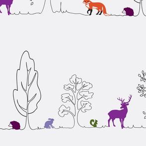 Woodland doodle colour