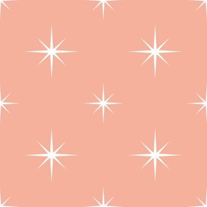 White Stars on Blush