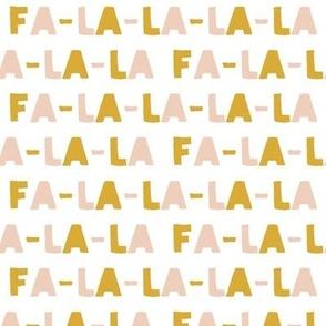 FA-LA-LA-LA-LA - blush & gold - holiday fabric