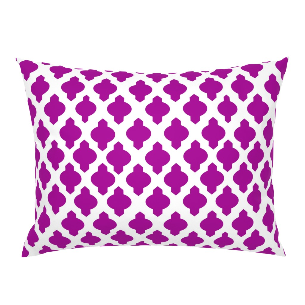 Campine Pillow Sham featuring Moroccan Ogee Damask // Fuchsia  by theartwerks