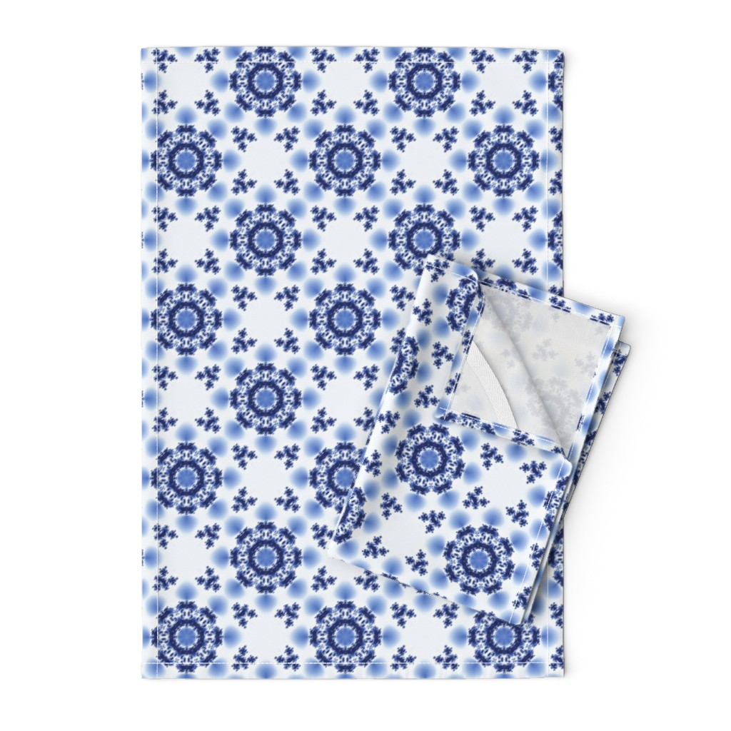 Orpington Tea Towels featuring Fractal Flowers by nadyabasos