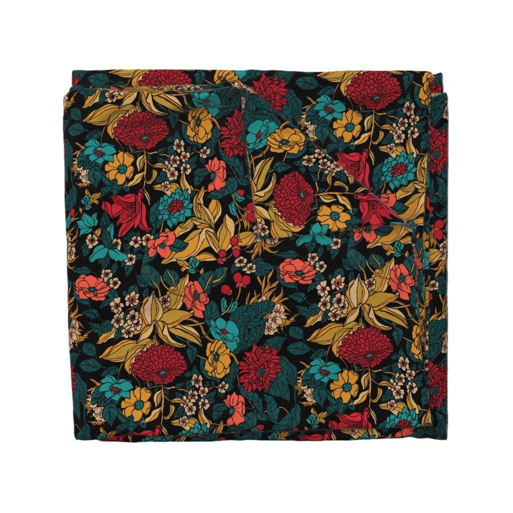 Wyandotte Duvet Cover featuring MB4 Amaryllis Autumn by mb4studio