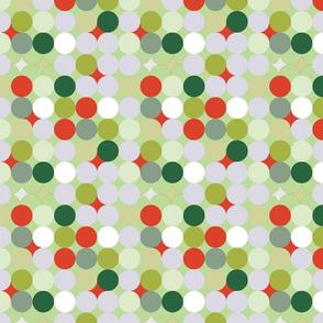 Circles abstract Christmas pattern