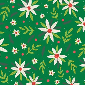 Festive Florals green