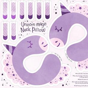 Unicorn Magic Neck Pillow purple