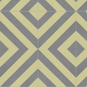 Yellow + Gray Zag