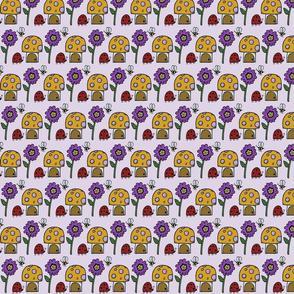 Mushroom House - Purple