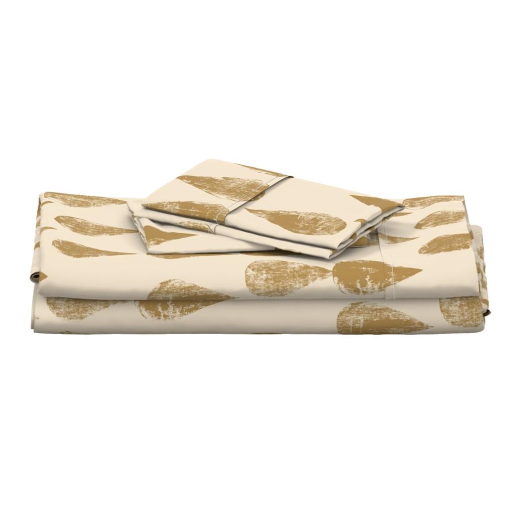 Langshan Full Bed Set featuring Golden drops by juliaschumacher