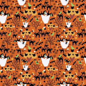 Halloween orange pattern