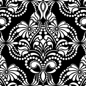 Blanco y Negro Arabesque Wallpaper