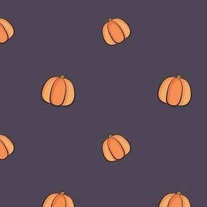 Fall Pumpkins - Purple