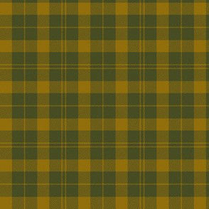 """Barbie's Moss plaid - yellow and olive, 3"""""""