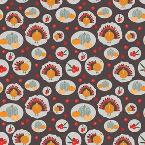 Brown Thanksgiving pattern