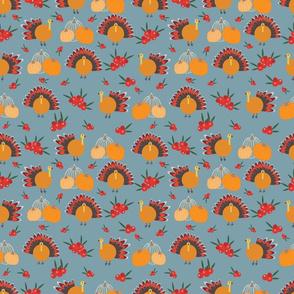 Grey Thanksgiving pattern