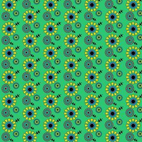 bauhaus floral green