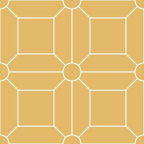 Gold with White Grid