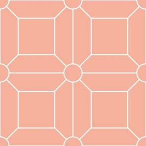 Blush with White Grid