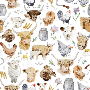 highland cow wrapping paper