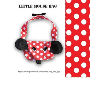 Little red dot mouse bag