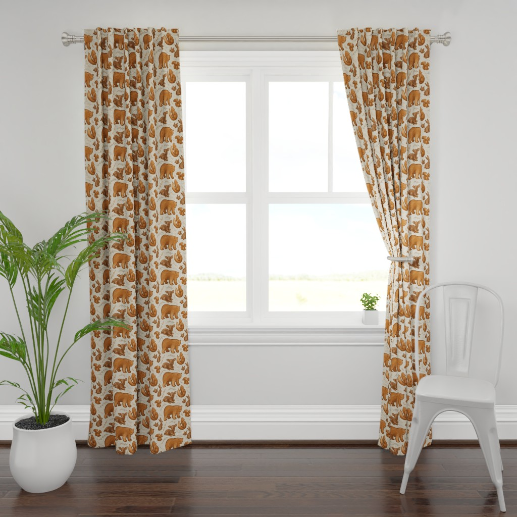 Plymouth Curtain Panel featuring Forest Friends by melanie_hodge
