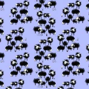 Wee Little Flock II on Periwinkle