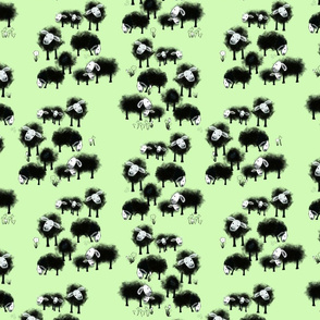 Wee Little Flock II on Spring Green