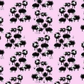 Wee Little Flock II on Lilac