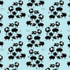 Wee Little Flock II on Aqua