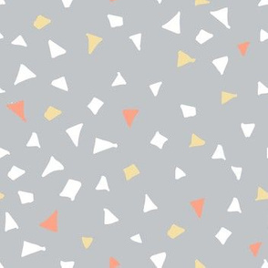 Woodlands terrazzo triangles grey