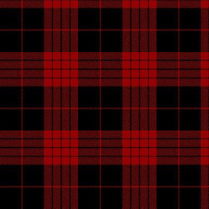 "Cameron black and red tartan variant, 3"""