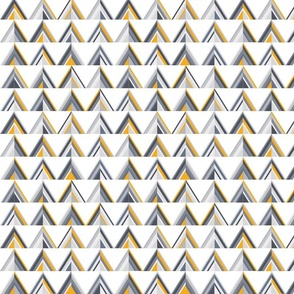 Gold and grey triangle pattern
