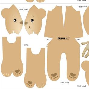BISCUIT FLEECE BEAR, style #1003