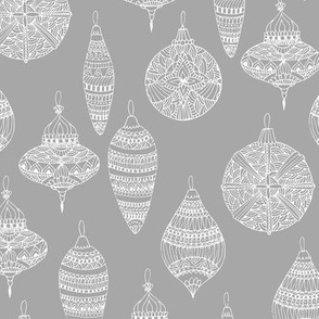 Christmas toys grey pattern
