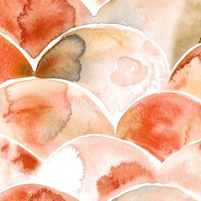 Rusty rounds - watercolor arcs