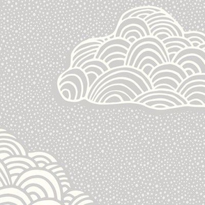 Cumulus Cloud - Soft Nursery Gray - Jumbo Scale