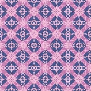 pink purple diamonds lace
