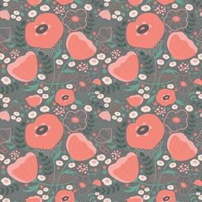poppy pink-gray