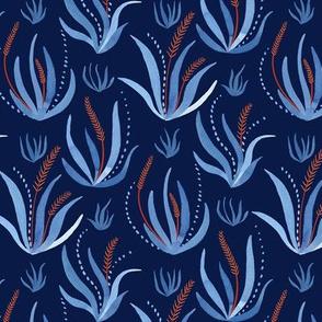 Underwater Seagrass / Dark Blue