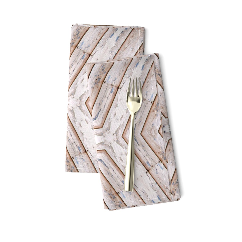 Amarela Dinner Napkins featuring Barn Shiplap Honeycomb  by snaphappyscientist