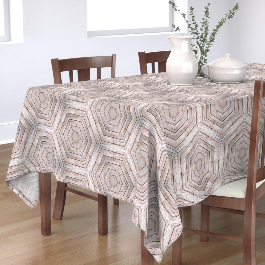 Bantam Rectangular Tablecloth featuring Barn Shiplap Honeycomb  by snaphappyscientist