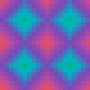 Diamond Pixel Geometric Gradient