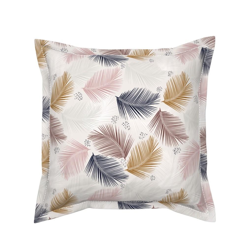 Serama Throw Pillow featuring indie palm by alison_janssen
