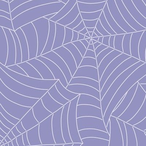 Spooky Spiderweb in Dusty Lavender
