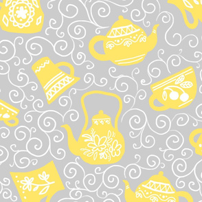 kettles and teacups