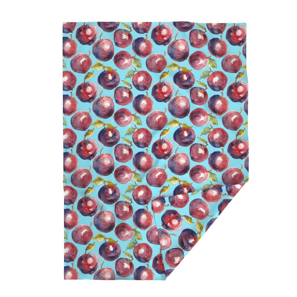 Lakenvelder Throw Blanket featuring Big Juicy plums - sky by moirarae