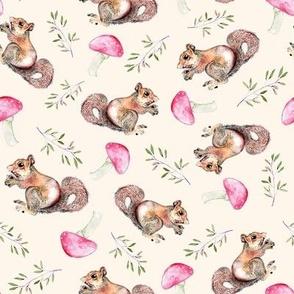 Mushrooms and squirrels