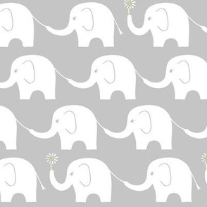 Elephant Parade on Grey