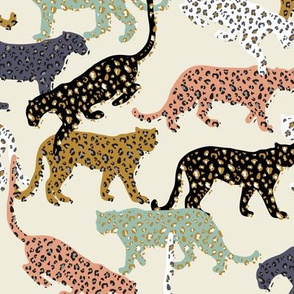 africa africa - leopards - cream - mini