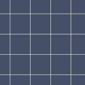 Dark blue grid thick lines on white | pencilmeinstationery.com