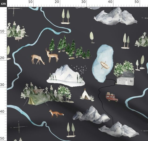 18 The Mountains Are Calling Black M Spoonflower